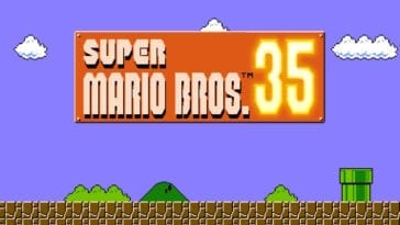 Super Mario Bros. 35 title screen
