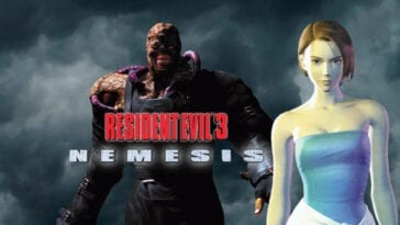 Resident Evil 3 Nemesis logo, Nemesis, and Jill Valentine