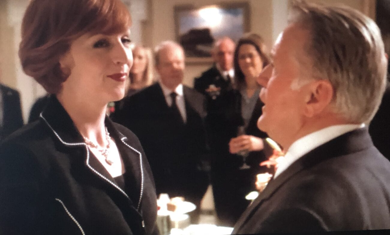 President Bartlet and Margaret at the wake