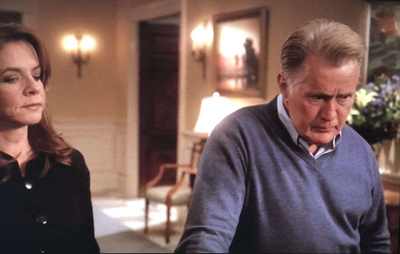 Alone with his wife, President Bartlet finally relaxes
