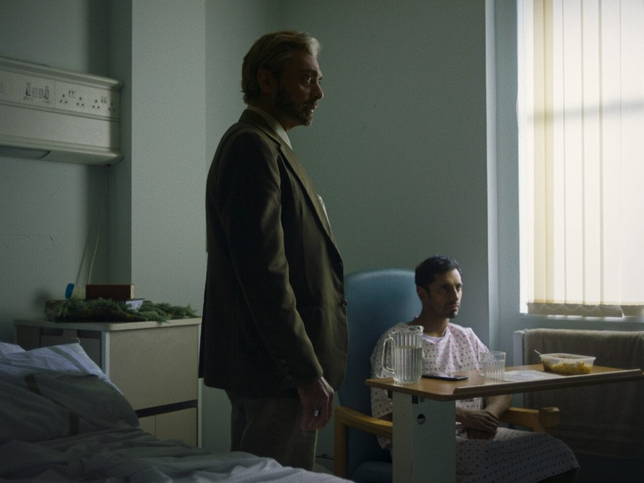 Alyy Khan and Riz Ahmed as Zaheer and his father in hospital in Mogul Mowgli