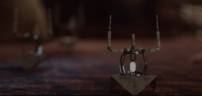 Elodie's mini robots do the movements in The OA