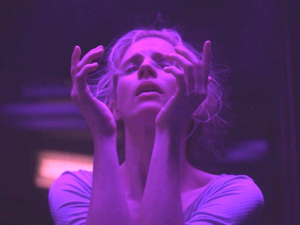 Prairie bathed in purple light in The OA