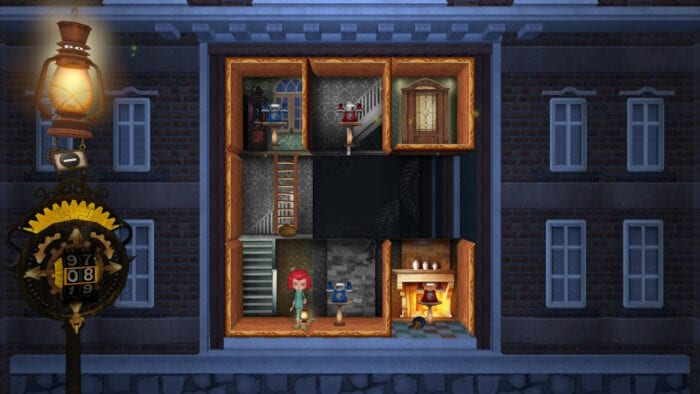A typical puzzle in Rooms The Adventure of Anne and George.