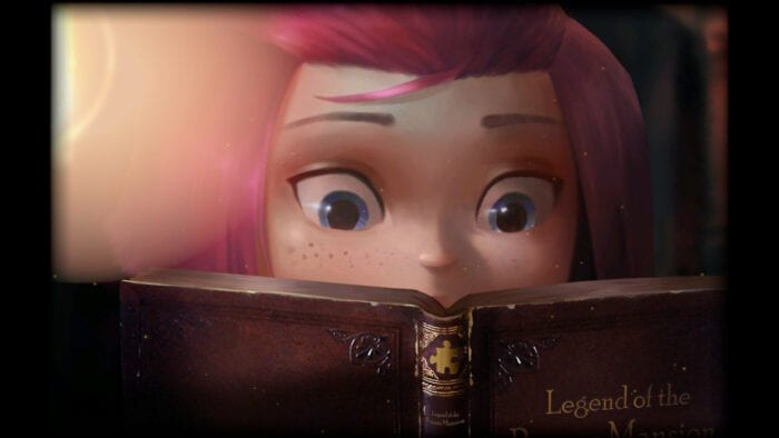 Anne reads the fairy-tale of the toymaker in the opening cutscene of Rooms.