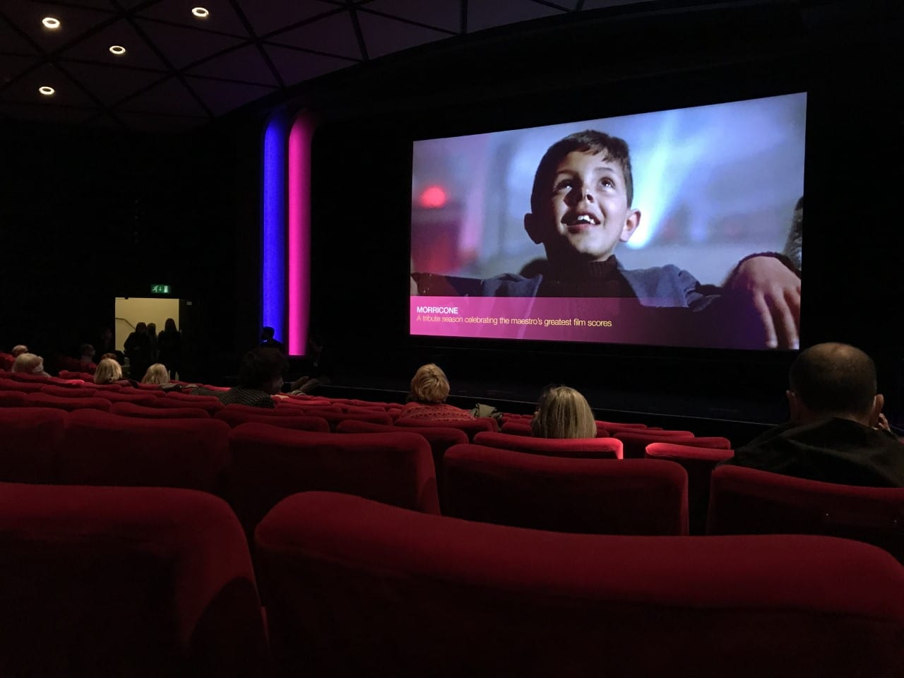 Photo taken by author of the socially distanced screening of Undine at the BFI Southbank