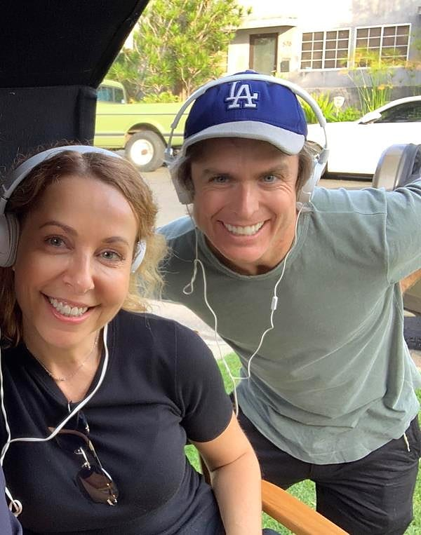 Sergine Dumais and Bo Price on the set of Wicita