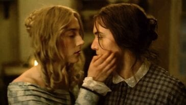 Saoirse Ronan and Kate Winslet as Charlotte Murchison and Kate Winslet in Ammonite