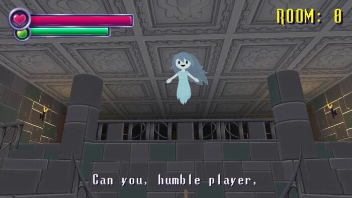 Spooky talks to the player