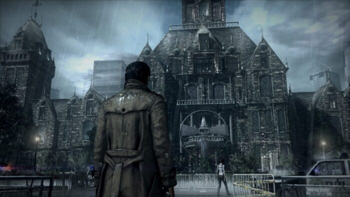 Sebastian stands in front of Beacon Hospital