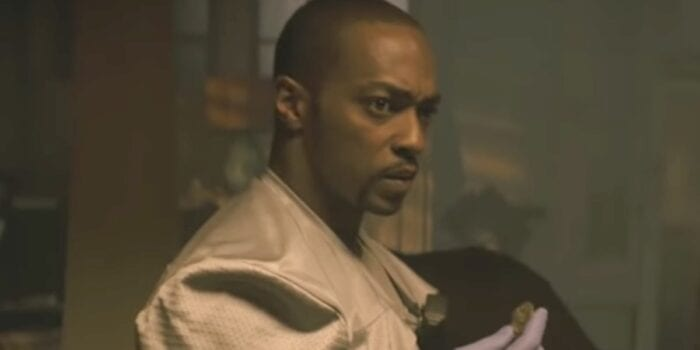 Anthony Mackie in Synchronic. He's holding a strange rock.