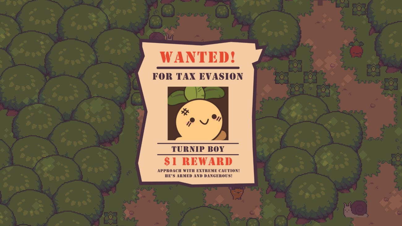 Wanted poster for Turnip Boy