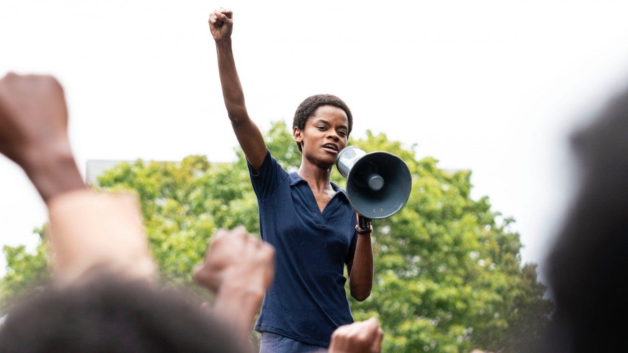Letitia Wright plays a Black Panther