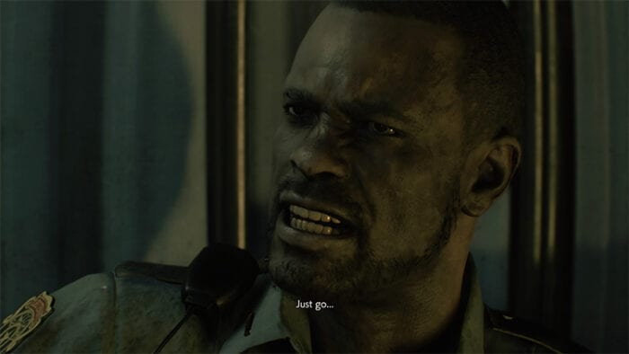 "Marvin tells Leon to ""Just go."" He says the same thing to Leon and Claire in the original game."