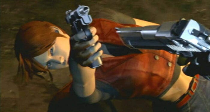 Claire is captured in the intro FMV cutscene of Code Veronica.