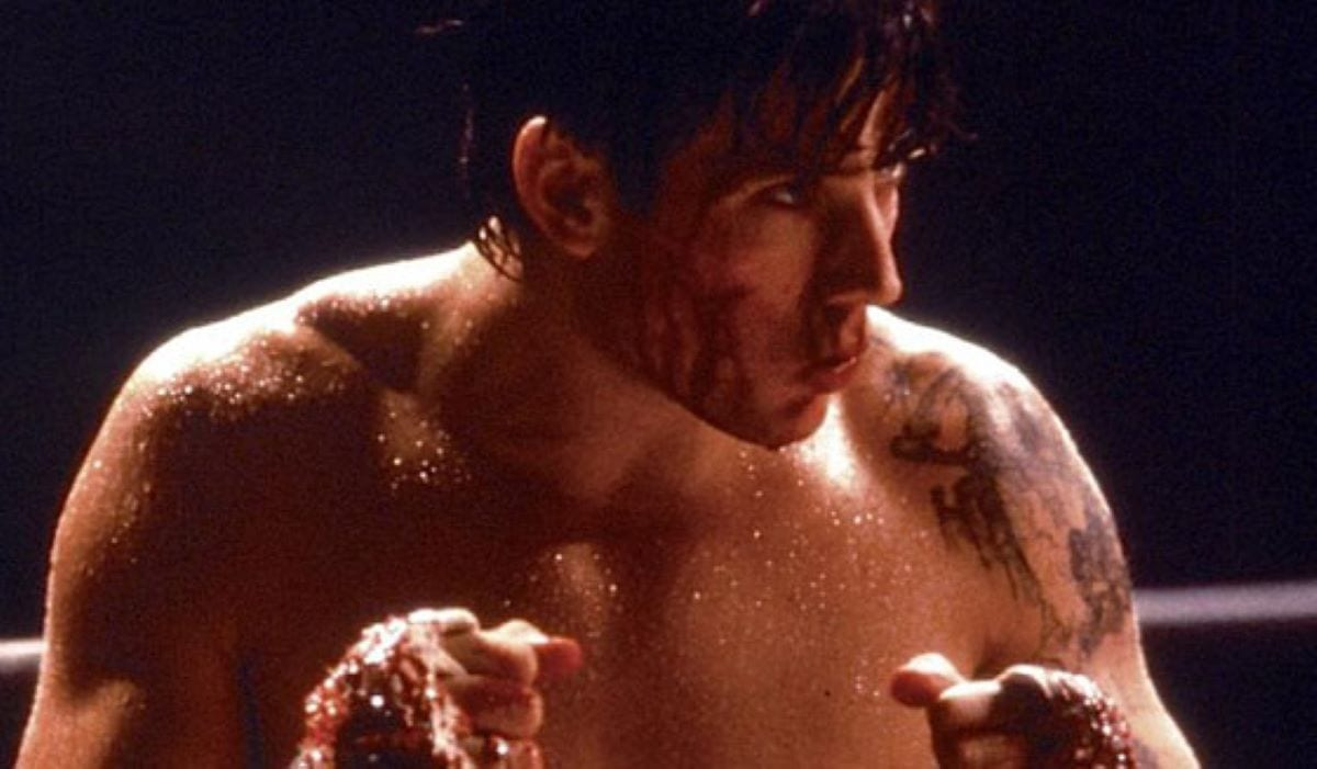 Disgraced straight to video star Sasha Mitchell prepares to fight in Kickboxer 2