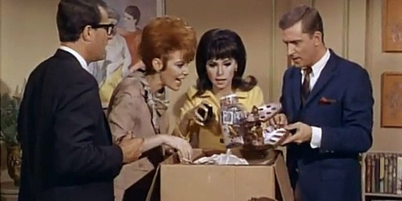 Marlo Thomas alongside three other actors in That Girl