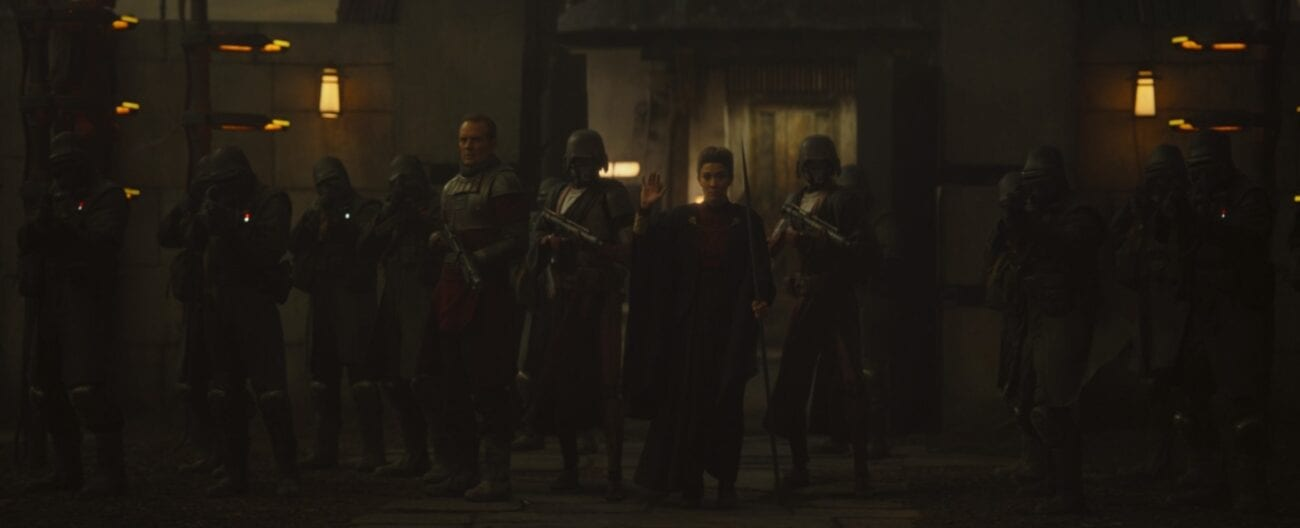 The Magistrate stands in front of her army