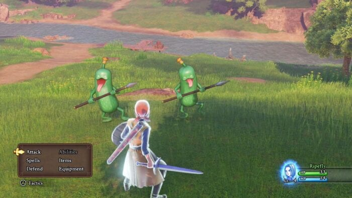 The Hero fights against two Cruelcumbers. They're literally walking cucumbers with spears.