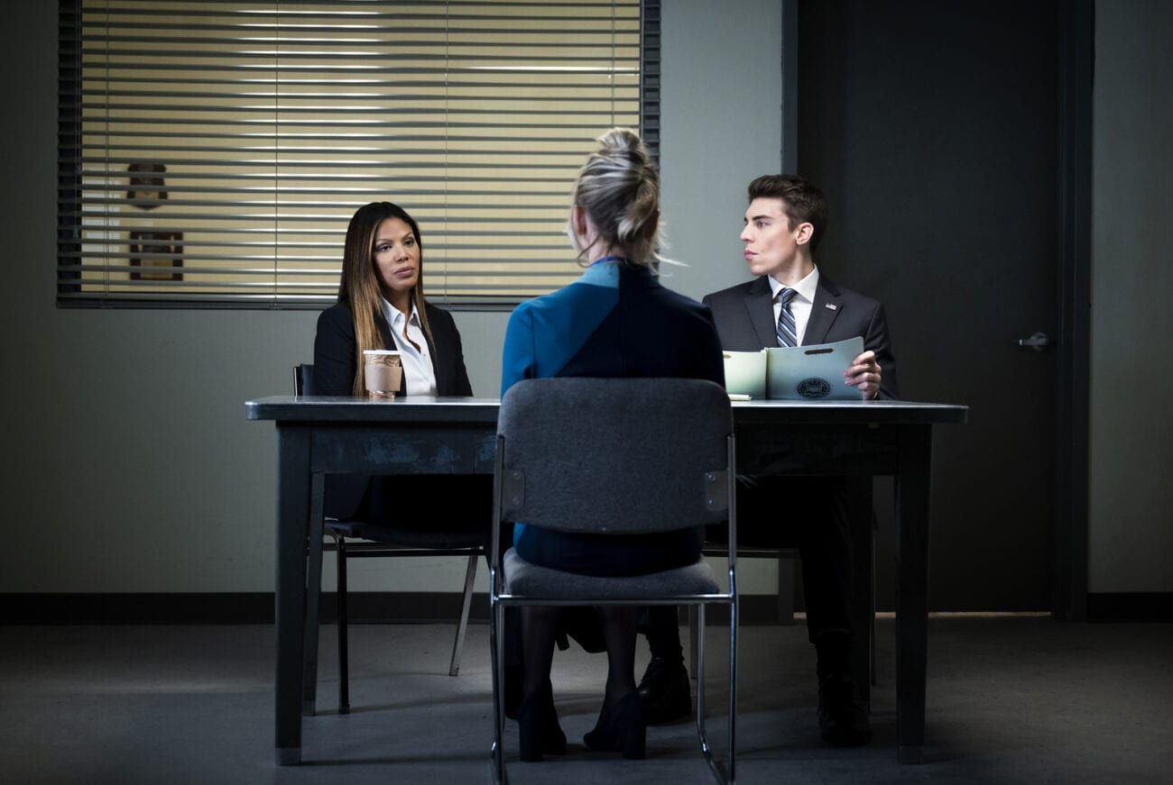 Cassie is questioned by FBI agents.
