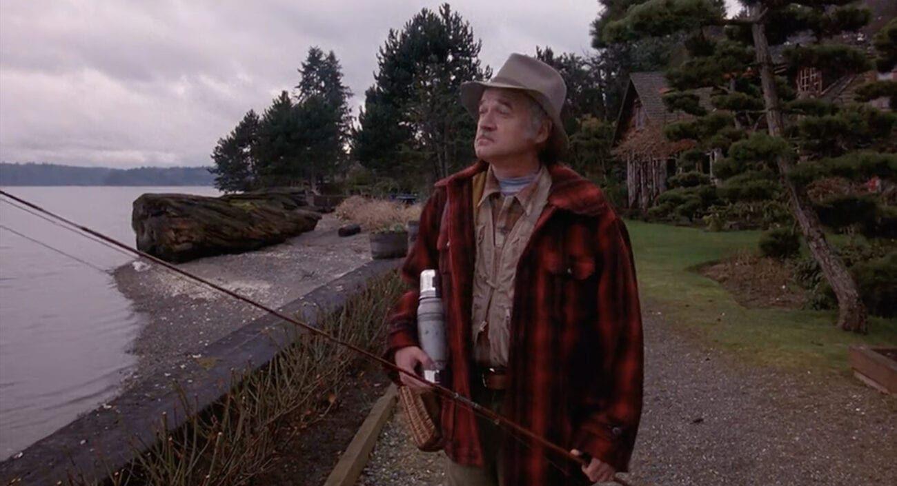 Pete Martell walks to go fishing