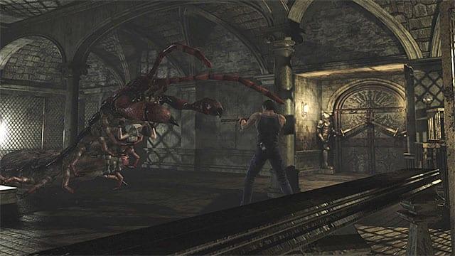Billy fires a shotgun at a giant bug
