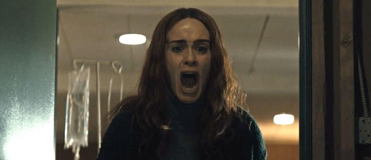Diane screams into a room.