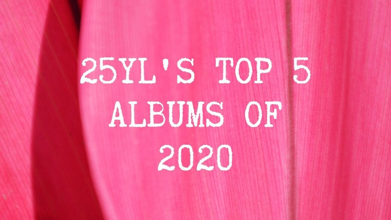 top 5 albums 2020 graphic