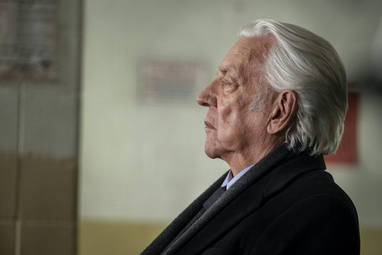 Franklin (Donald Sutherland) looks on in profile in The Undoing
