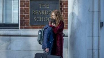 Grace hugs Henry outside of Reardon