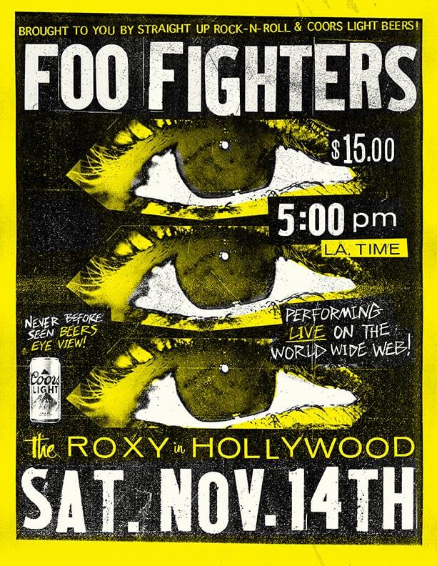 Foo Fighters Roxy 14 Nov poster