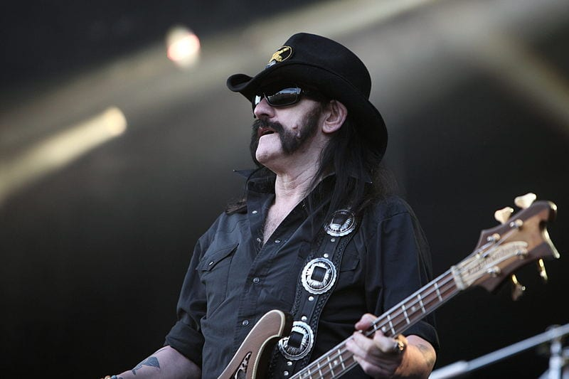 Lemmy on stage with Motorhead