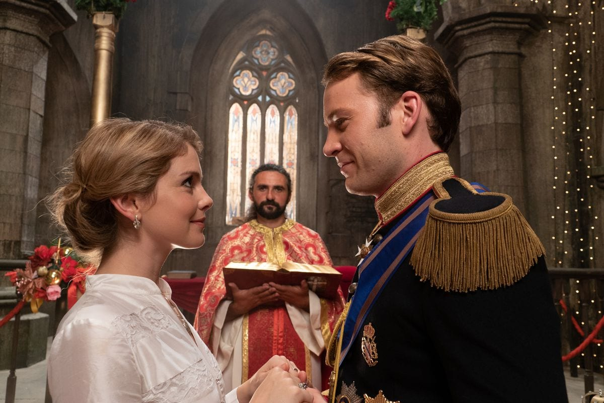 Amber and Richard say their wedding vows