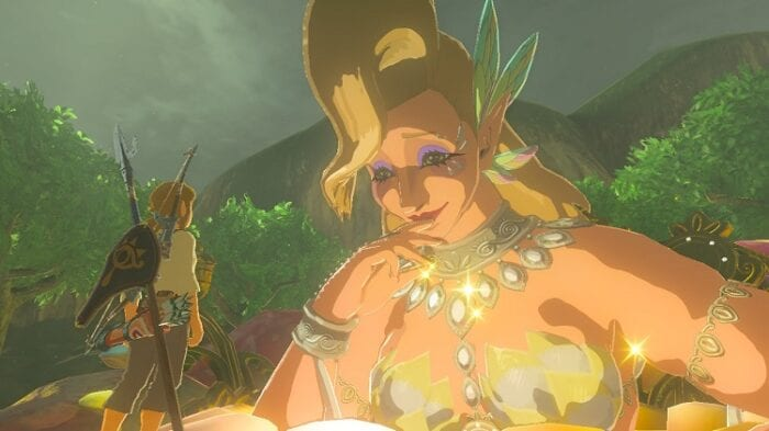 Great Fairy looks lovingly at Link