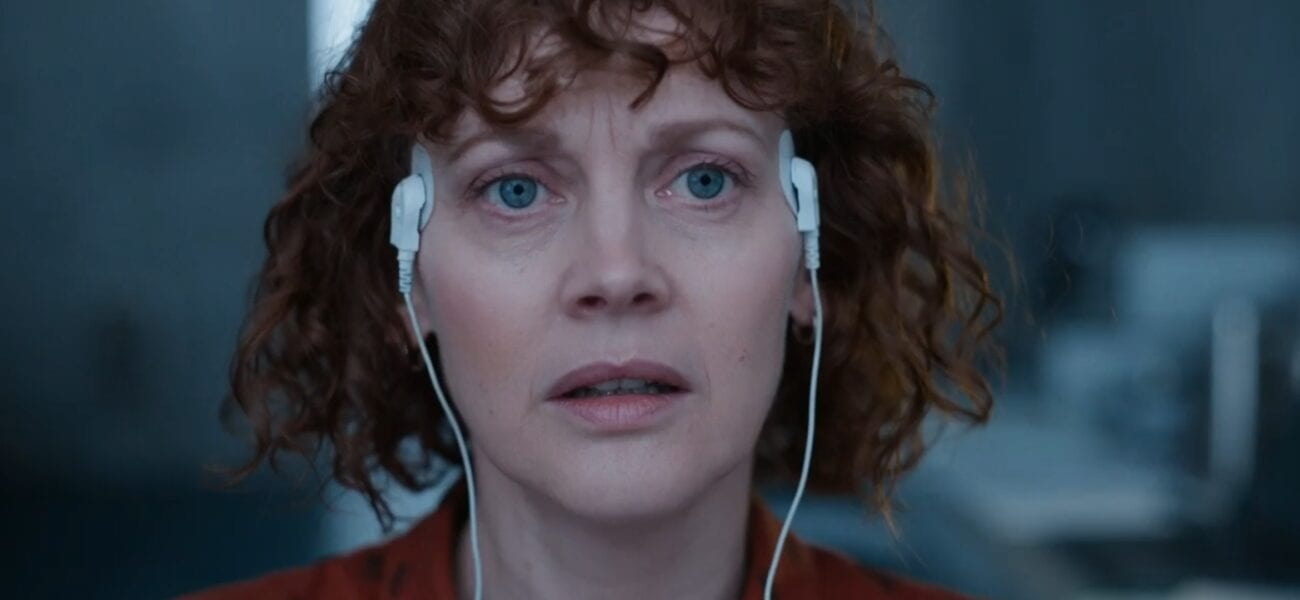 His Dark Materials S2E4 - Mary stares forward with electrodes attached to her temples
