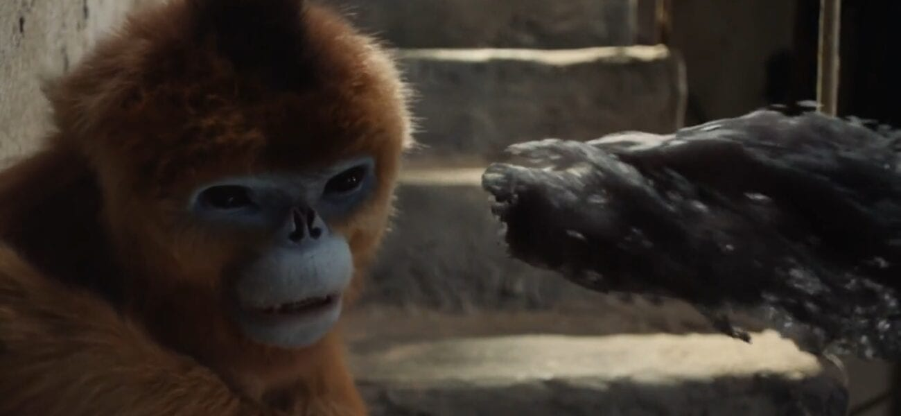 His Dark Materials S2E7 - The golden monkey shies away from a spectre that is right in his face