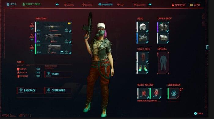 Cyberpunk 2077 Screenshot of the character customization screen