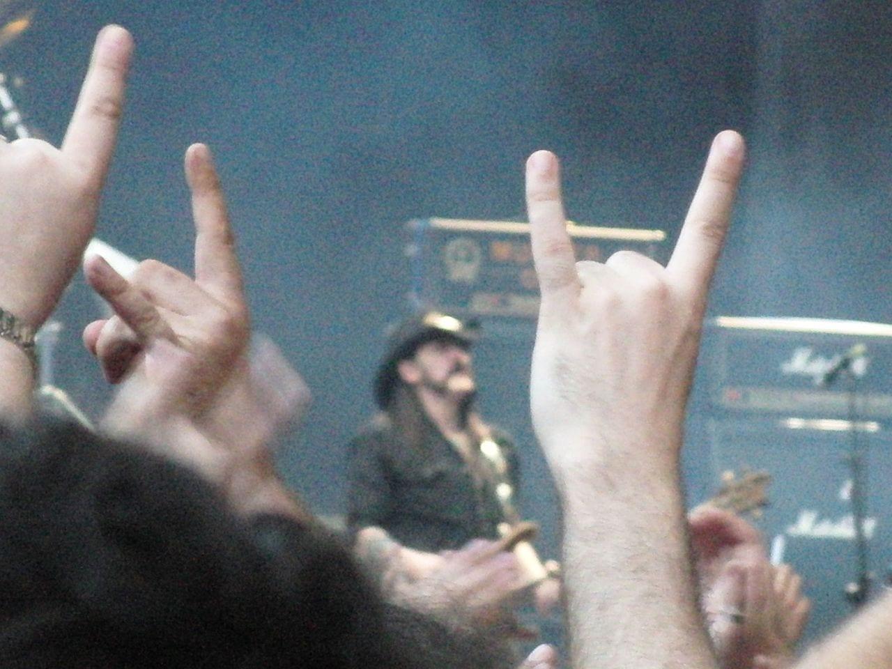 Lemmy on stage