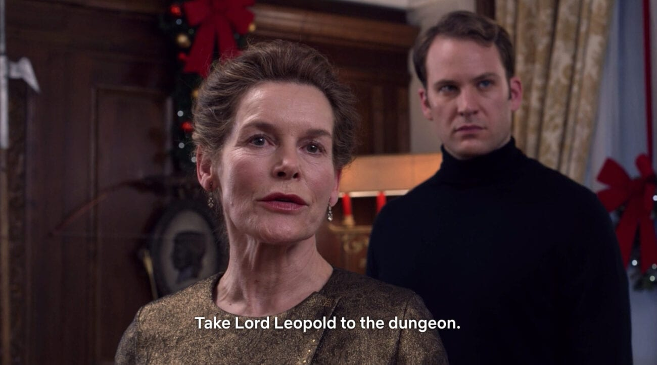 Queen Helena says to take Leopold to the dungeon