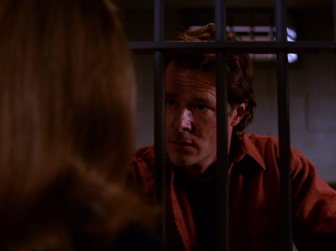 Hank Jennings in jail, pleading with Norma in Twin Peaks