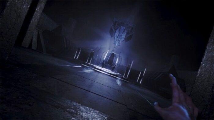 Visually arresting photo of...a dark room?