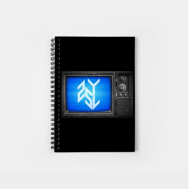 Notebooks in the 25yl merch store