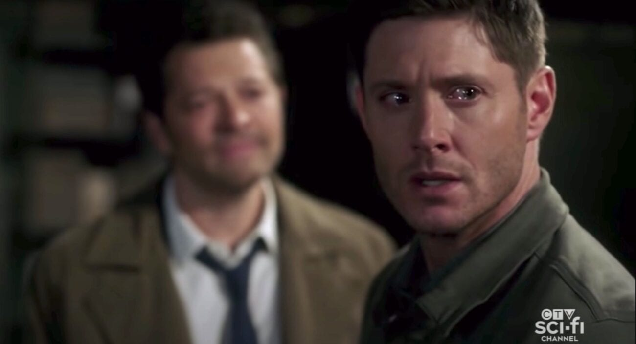 Dean turns to see the Empty approaching, with Cas over his shoulder.