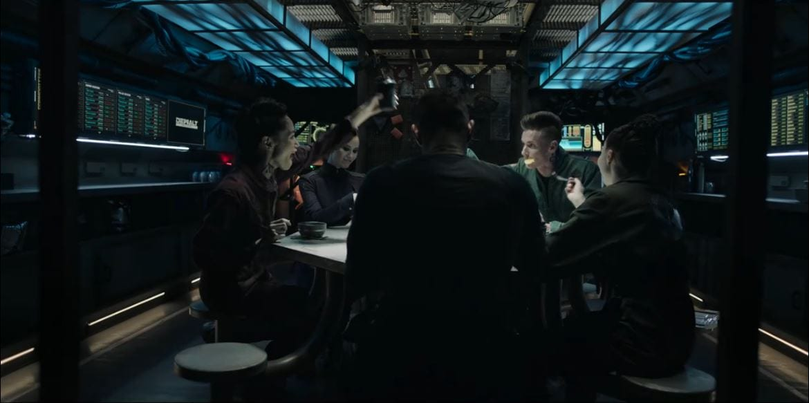 Drummer celebrates with her crew in The Expanse S5E2