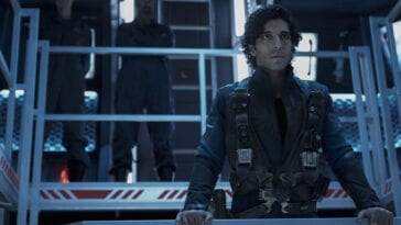 Marco Inaros stands on his ship looking forward