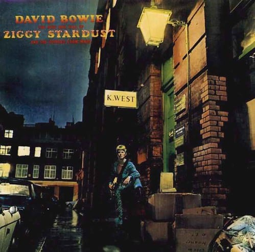 The Album cover for The Rise and Fall of Ziggy Stardust and The Spiders From MarsRise and Fall