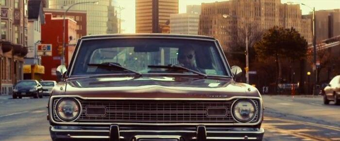 Charlie drives his Dodge down a Buffalo street.