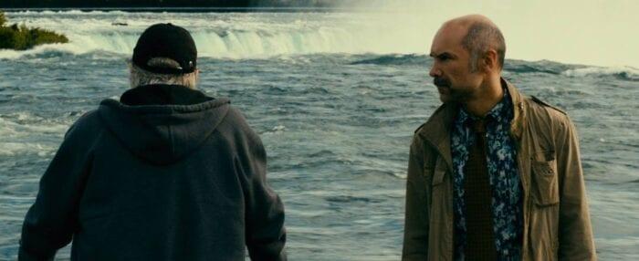 Charlie meets his source at Niagara FAlls.