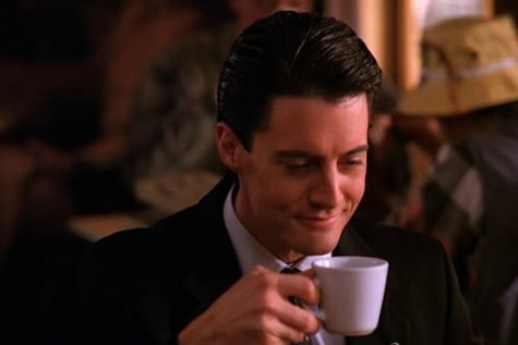 Dale Cooper drinking coffee