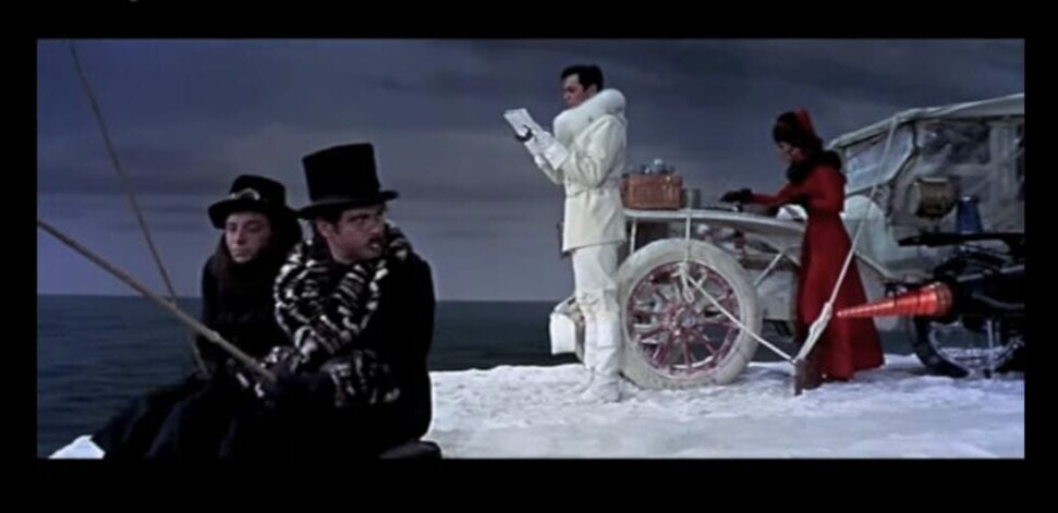 Fate, Max, Leslie, and Maggie wait to be rescued on an ice berg